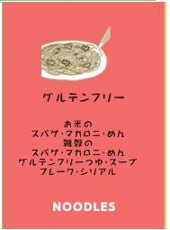 グルテンフリーのスパゲティー。ラーメン・焼きそば・うどん